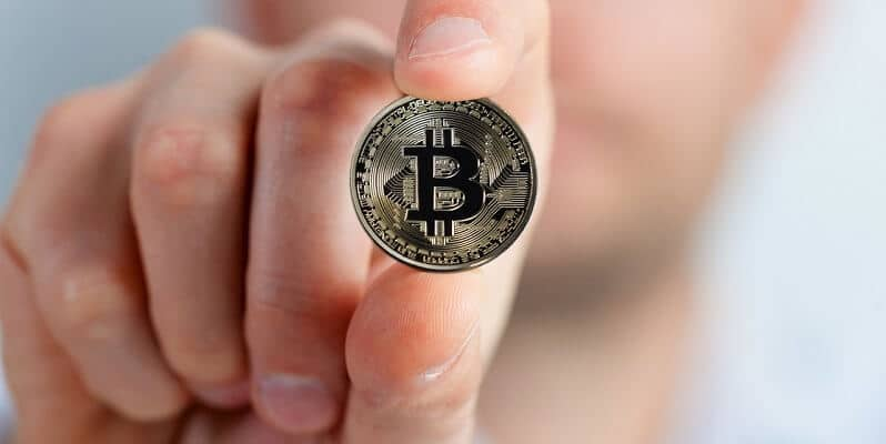 bitcoin in hand
