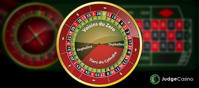 Call Betting: Voisins du zéro; Tiers du cylindre; Orphelins; Final bet