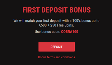 cobracasino first deposit bonus