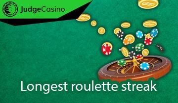 Longest roulette streak